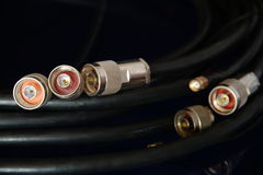 RF connectors. Different high-frequency connectors for high-speed data transmission Royalty Free Stock Image