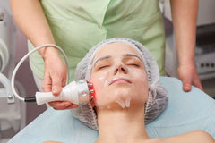 Rf face lift, collagen mask. Royalty Free Stock Image