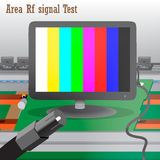 Rf signal Test in Process Production Television Stock Photo