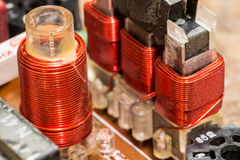 Rf-Spulen - elektronische Bauelemente Stockbilder