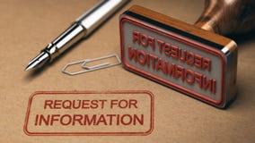 RFI förfrågan för information Arkivfoto