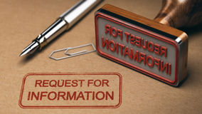 RFI, Verzoek voor Informatie Stock Foto