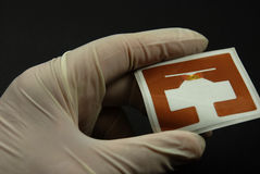 RFID芯片和标记 库存照片