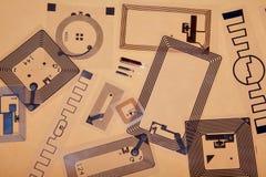Τσιπ και ετικέττες RFID Στοκ εικόνα με δικαίωμα ελεύθερης χρήσης