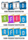 RFID Alphabets Inside Various Blocks Stock Photo