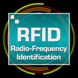 RFID Black Technical Circle Stock Photo