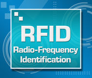 RFID Blue Technical Background Stock Photo