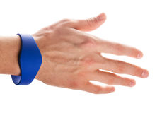 RFID Bracelet on a hand Royalty Free Stock Images