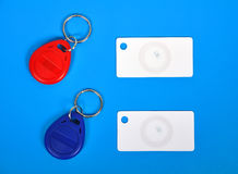 RFID cards and keychain Stock Image