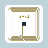 RFID chip. An illustration of an RFID chip
