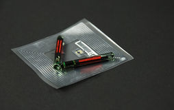 RFID chips and tags Stock Photos
