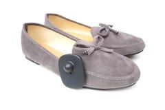 RFID ciężka etykietka na butach Fotografia Royalty Free