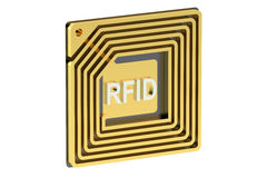 RFID-etikett Royaltyfria Bilder