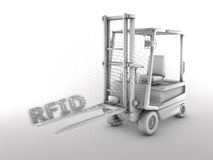 RFID - Forklift royalty free stock photography