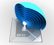 RFID (Radio Frequency IDentification) chip Stock Photo