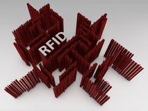 RFID - Symbol - 3D Royalty Free Stock Photo