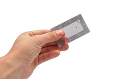 RFID tag. In hand  on a white background Stock Images