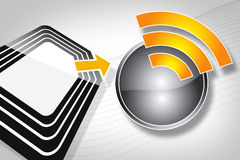 RFID Tag. New technology of the Radio Frequency Identification Royalty Free Stock Photos