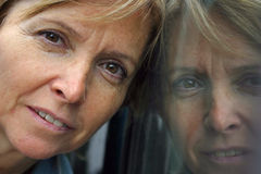 Réflexion de Headshot Image stock