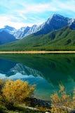 Réflexion de lacs spray Images libres de droits