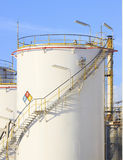 RFM extract chemicals tank strorage in petrochemical refinery pl Stock Photo