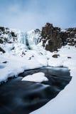 Rfoss καταρράκτης ã-Xarà ¡ στο εθνικό πάρκο Ισλανδία Thingvellir Στοκ Φωτογραφία