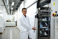 Réfrigérateur moderne industriel Photographie stock libre de droits
