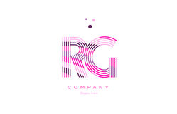 Rg r g alphabet letter logo pink purple line icon template vecto Royalty Free Stock Image