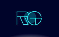 Rg r g blue line circle alphabet letter logo icon template vecto Royalty Free Stock Images