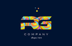 Rg r g colorful alphabet letter logo icon template vector Royalty Free Stock Photos