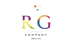 Rg r g  creative rainbow colors alphabet letter logo icon Royalty Free Stock Photos