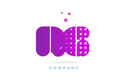 Rg r g pink dots letter logo alphabet icon Royalty Free Stock Photography