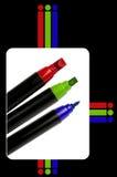 RGB剪影笔 库存照片