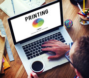 RGB打印调色板混合的颜色概念 免版税库存图片