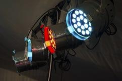 RGB泛光灯 音乐会的照明设备 免版税库存图片