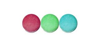 RGB蛋白杏仁饼干 免版税图库摄影