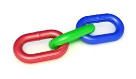 RGB łańcuch odizolowywający na białym tle Obraz Stock