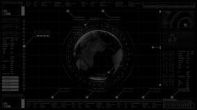 RGB-άλφα κεφάλι διεπαφών υποβάθρου υψηλής τεχνολογίας ψηφιακό αφηρημένο επάνω στην ολογραφική γη επίδειξης απεικόνιση αποθεμάτων