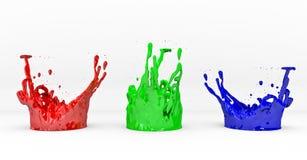 RGB. Concept on white background, 3D render vector illustration