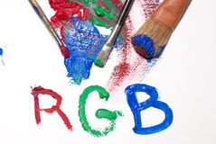 RGB mixing colors Stock Photography