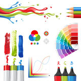 RGB. Color mode design elements vector illustration