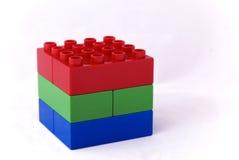 蓝色多维数据集绿色红色rgb 免版税库存照片