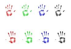 Rgb Af:drukken van de Hand vector illustratie