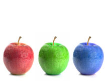RGB Apples Royalty Free Stock Photos