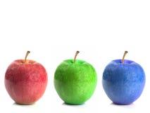 RGB Apples royalty free stock photos