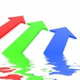 RGB arrows Stock Image