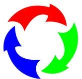 RGB arrows flat Royalty Free Stock Photography