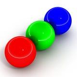 Rgb ballen vector illustratie