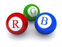 RGB balls Royalty Free Stock Photos