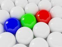 Rgb balls Stock Images